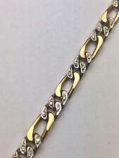Armband 750 Gold ca. 0,48 ct Diamanten 19 cm