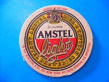 Beer Brewery Coaster ~ AMSTEL Breweries Holland ~ 95 Calories in the Light Bier