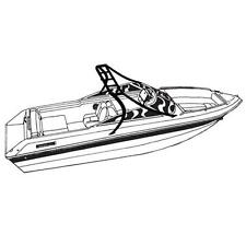 Deluxe V-Hull Fishing Tournament boat w/Ski Wakeboard Tower Boat Cover 19'L