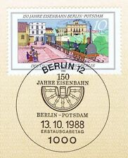 Berlin 1988: Eisenbahn Berlin-Potsdam Nr. 822 mit Ersttagssonderstempel! 1A 1701