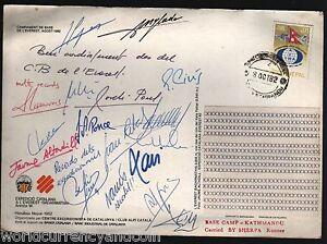 NEPAL 1982 SPAIN CATALANA HIMALAYA MT.EVEREST EXPEDITION SIGNED BASE CAMP SHERPA