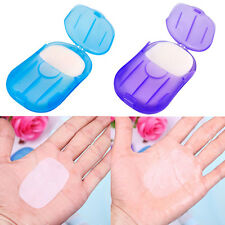 2x Mini Washing Hand Bath Travel Scented Slide BTeets Foaming Box Paper Soap