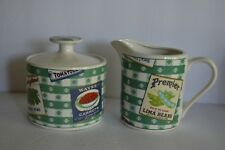 HABITAT AMERICANA COUNTRY CUPBOARD OMNIBUS FITZ AND FLOYD SUGAR BOWL CREAMER SET