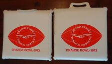 Orange Bowl Vintage Stadium Seat Cushion Lot of 2 United States Tobacco Co Promo