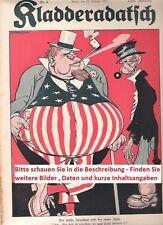 1914 1915 1916 1917 1918 kladderadatsch Caricature Magazine 1. World War ww1