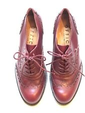 OFFICE LONDON Women's Burgundy Leather Shoes , Size 39 / UK6