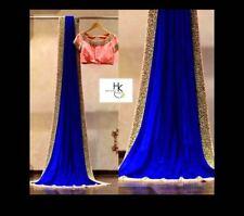 Saree Bollywood Ethnic Wedding Pakistani Lehenga Sari Indian Designer Party Wear