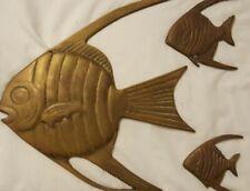 Brass? AngelFish Wall Hanging Art Figures - Angel Fish OLEE Korea Set of 3