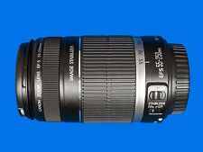 Canon EF-S 55-250mm F/4-5.6 IS Lens C/W Front and Rear Caps