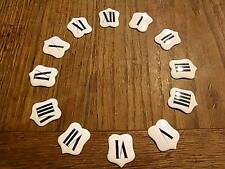 ANCIEN CHIFFRE 12 CARTOUCHES EMAILLEE CARILLON HORLOGE COMTOISE PENDULE CLOCK