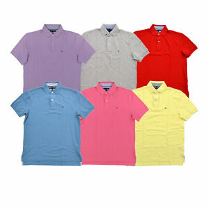 Tommy Hilfiger Mens Polo Shirt Short Sleeve Mesh Classic Fit Collared Casual New