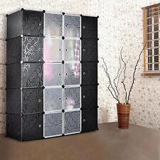 Wardrobe Closet Portable Wardrobe Armoire Storage Cabinet 20 Cube Organizer DIY