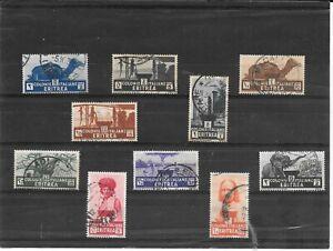 ERITREA EX COLONIA ITALIANA 1933 SOGGETTI AFRICANI POSTA ORDINARIA