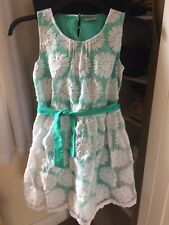 Next Green Lace Floral Dress 13 Years