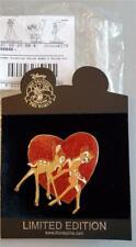 Disney Shopping - Valentine Series Bambi & Faline Jumbo Heart Pin #68079 Le 300
