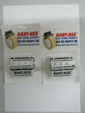 2x Packbandabroller Klebebandabroller Paketband Abroller Weiß Paketabroller 5cm