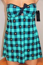 New Tommy Hilfiger Swimsuit 1 one piece Size 8 Navy Strapless swim dress