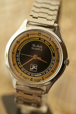 Watch SLAVA SPORT RUNNER Quartz USSR Pulse Meter Soviet Vintage Rare Serviced /V