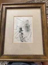"""Toulouse-Lautrec"" Salvador Dali Authenticated Etching Engraving 1968 COA"
