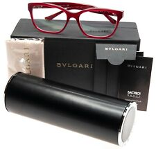 NEW BVLGARI 4115 5333 RED EYEGLASSES GLASSES FRAME 54-16-140 B38mm Italy w/ Case