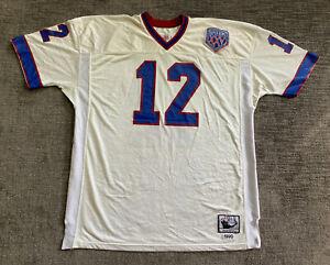 Jim Kelly Buffalo Bills Super Bowl Mitchell & Ness Jersey sz 54 Authentic retro