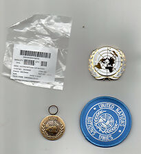 UNITED NATIONS MEDAL FOR HAITI ( MINUSTAH) ,UN BERET BADGE & SLEEVE BADGE