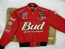 Chase Authentic men's size small Red Budwiser NASCAR Dale Earnhartt Jr. Jacket