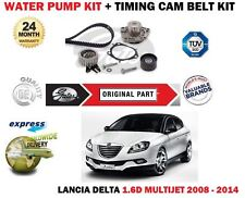 FOR LANCIA DELTA + MUSA 1.6D MULTIJET 2008-2014 WATER PUMP + TIMING CAM BELT KIT