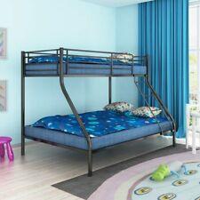 vidaXL Stapelbed voor Kinderen 200x140/200x90 cm Metaal Zwart Stapel Bed Frame