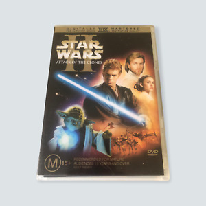 Star Wars II: Attack of the Clones DVD - GC/R4/AUS/Tested/Free Postage 🐙