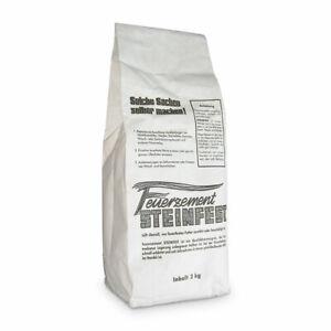 Feuerzement Steinfest 2 kg, feuerfester Zement Ofenbau