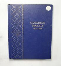 Used Whitman 1922-1966 Canadian Nickels Empty Coin Album Book - 9 Oz. *197