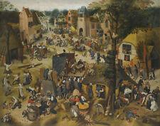Brueghel Peter The Elder Performance At A Village Kermesse Print 11 x 14   #4952