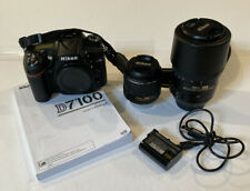 1 OWNER Nikon D7100 Digital SLR Camera 2 lenses 18-55mm And 55-300mm Low Shutter