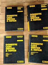 1988-1990 Mitchell Domestic Cars Service & Repair Manual Hardcover Books