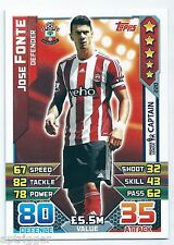2015 / 2016 EPL Match Attax Base Card (220) Jose FONTE Southampton