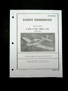 1953 Air Force Navion L-17 A/B/C Pilot Aircraft Flight Operating Manual