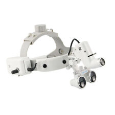 35x 420mm Dental Binocular Magnifing Loupes 5w Ent Led Headlight Lamp White