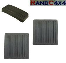 Land Rover Defender Brake Clutch & Accelerator Pedal Rubber Pad Set 1983-98