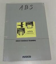Schulungsunterlage Iveco Bremsanlage ABS Prüfschritte Elektronik Stand 10/1988