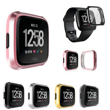 For Fitbit Versa Smart Watch Slim Plating Screen Protector Rubber Case Cover