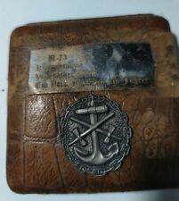 More details for german ww2 ii kriegsmarine submarine u-73 swiss antique pocket watch/clock