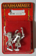 GW Warhammer Dark Elf Witch Elves 8513B 1997 Ver. 3 - METAL OOP MIB (2 models)