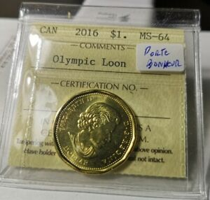 2016 - CANADA - DOLLAR Coin ($1.00) – OLYMPIC Loon  MS - 64