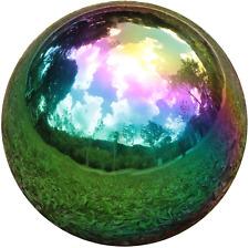 New listing Rainbow Gazing Globe Mirror Balls Garden Home Stainless Steel Sparkling Sphere
