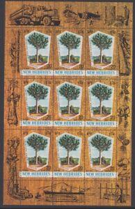 New Hebrides 1969 MINT sheet Spruce tree MNH