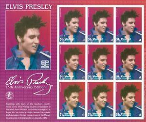 St. Vincent 2002 - SC# 3045 Elvis Presley, Musician Icon - Sheet of 9 Stamps MNH