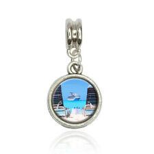 Beach Chair Cruise Ship Caribbean Ocean European Style Bracelet Bead Charm