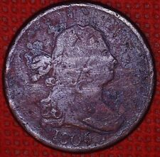 1806 Small 6 Stemless 1/2c Draped Bust Half Cent Penny Coin #813