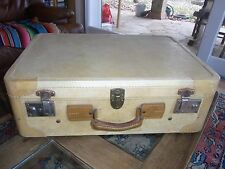 VALISE ANCIENNE recouverte de VESSIE PORC VINTAGE OLD PIG bladder covered case
